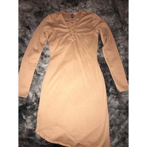 Tan dress h&m never been worn